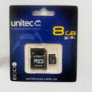 Memoria Micro de 8 GB UNITEC