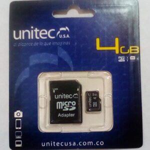 Memoria Micro de 4GB Unitec