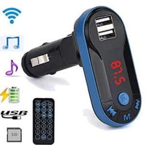 Transmisor de carro Fm, Tb, USB, Aux, Control