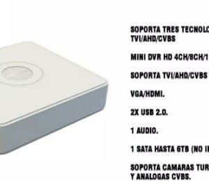 Mini DVR Hikvision 720P HD 4 canales