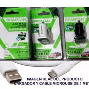 Cargador USB para carro Spartan 3,1 A Dual conect