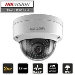 Cámara IP Domo Hikvision 2Mpx 2.8mm