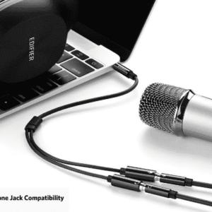 Cable divisor Micrófono audífono Jack 3.5 1 Macho 2 Hembras
